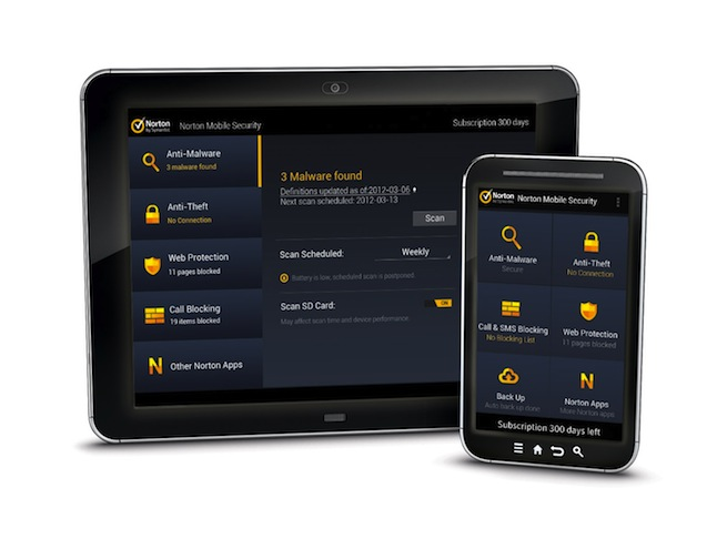 mogelijkheden van norton mobile security